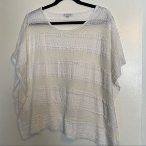 Erin London | Off-White Lace Flutter Top | Size XL